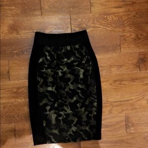 Anthropologie Skirts - Maeve shimmery camo pencil skirt